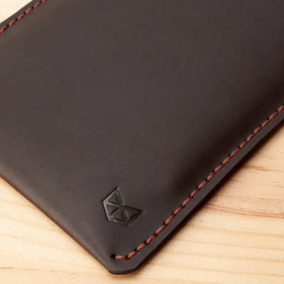 Detail. Marron Leather Kindle Cover. Hand stitched Case. Lucid Kindle Case. Gifts for him