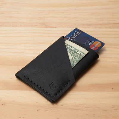 Black slim Kuo wallet, perfect gift for men. Men Wallet. Card Holder. Leather Card Holder