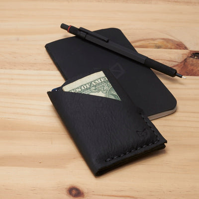 Slim kuo wallet, perfect gift for men. Mens minimalist designer thin wallet. Custom monogrammed gifts for men