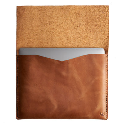 Soft interior sleeve. Leather Dell XPS Sleeve Case by Capra Leather