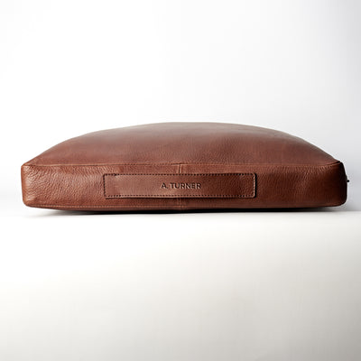 Engraving. travel meditation cushion. Leather meditation cushion, perfect for yoga and meditation. Modern squared zafu