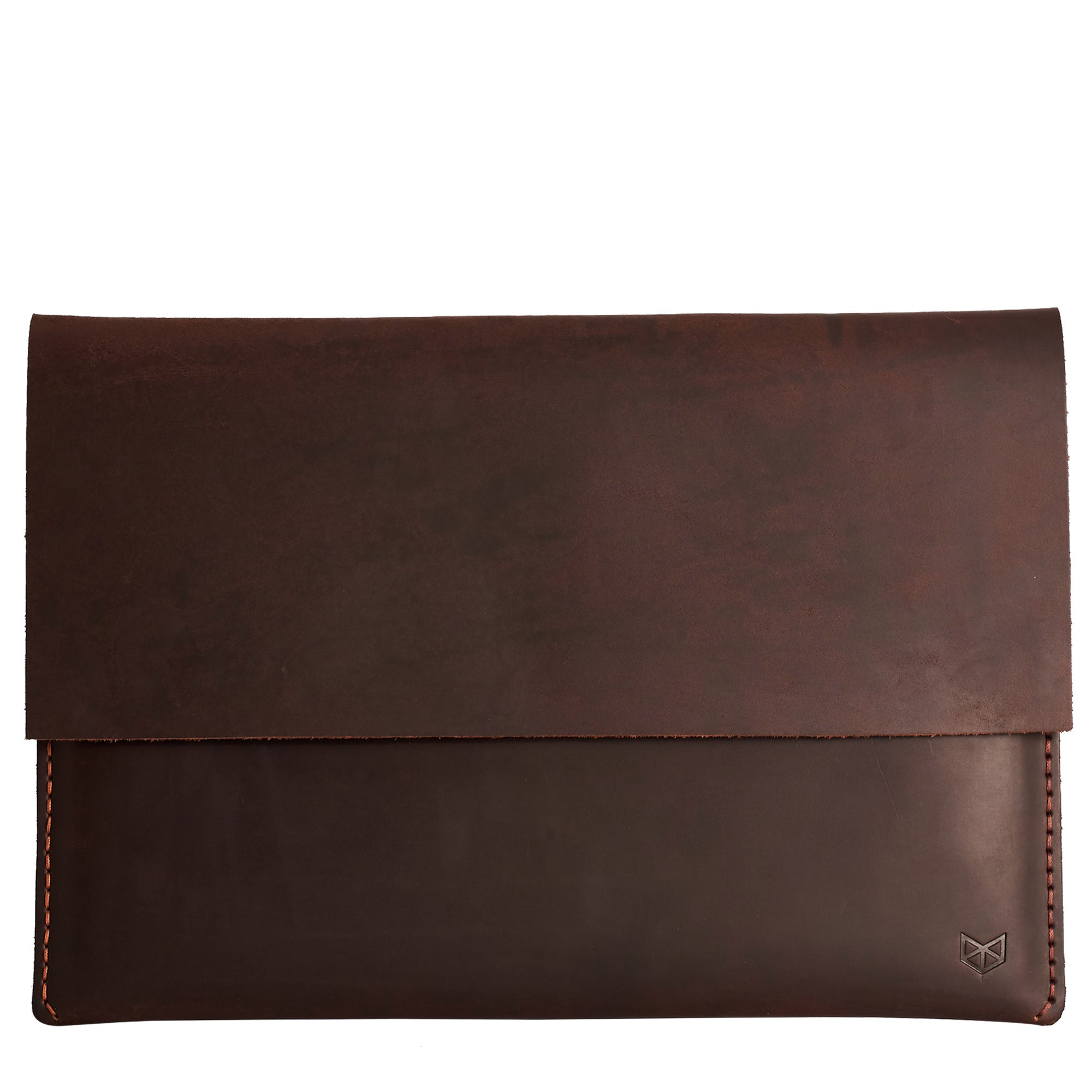 Closed dark leather case for Microsoft Surface