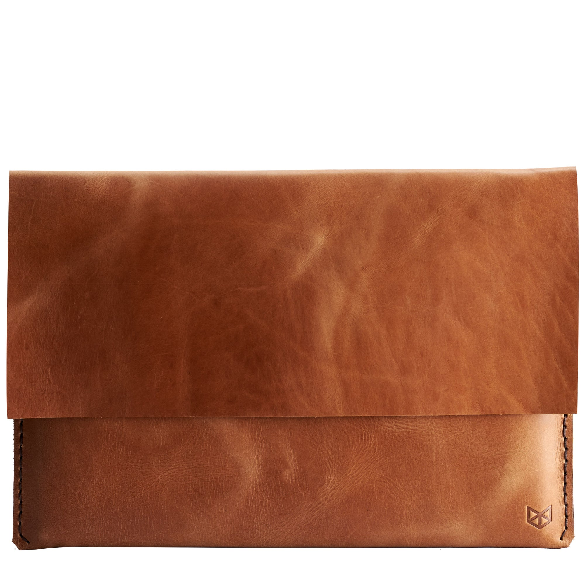 Havana leather Macbook pro touch bar sleeve. Designer unique mens cases. Hand stitched Macbook Pro sleeve