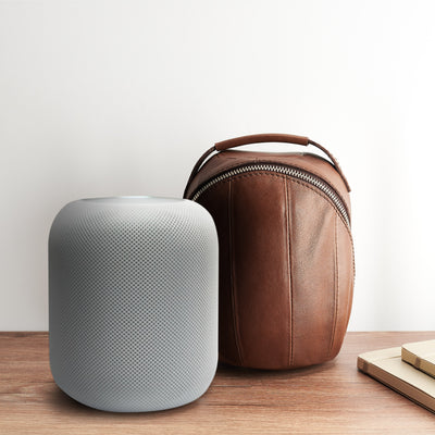 Living room. Homepod leather cover, Homepod leather case, Apple accessories, HomePod protector, Travel carrying case, Capra Leather