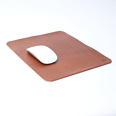 Minimalistic Acorn Leather Mouse Pad, Boyfriend gift, Mousepads, Personalized stationary, Custom office supplies