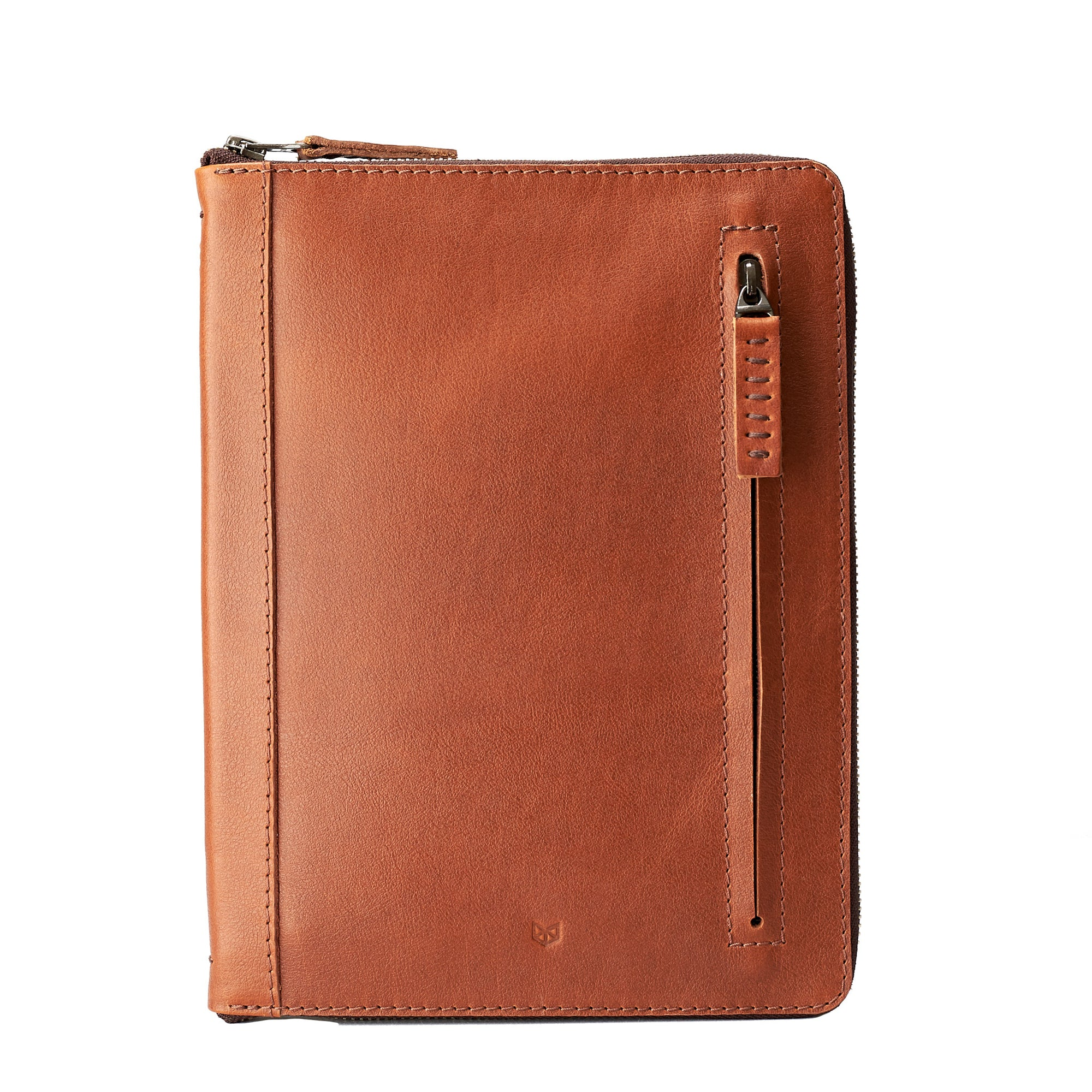 A5 leather notebook cover by Capra Leather. Gifts for artists.