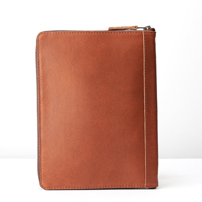 Back. A5 leather notebook cover by Capra Leather. Gifts for artists.