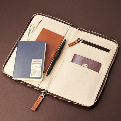 Travel accessories. Tan leather passport holder. Airport travel leather organizer accessories. Leather good craft by Capra Leather.