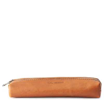 Handmade Tan Pencil Case by Capra Leather