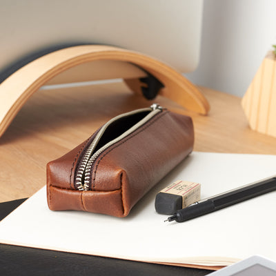 Style. Handmade Leather Pencil Case by Capra Leather