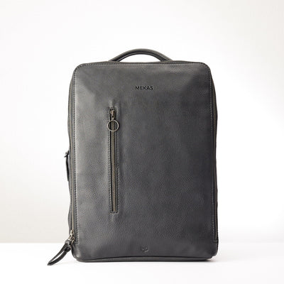 Engraving detail. Modern Saola tech bag by Capra Leather