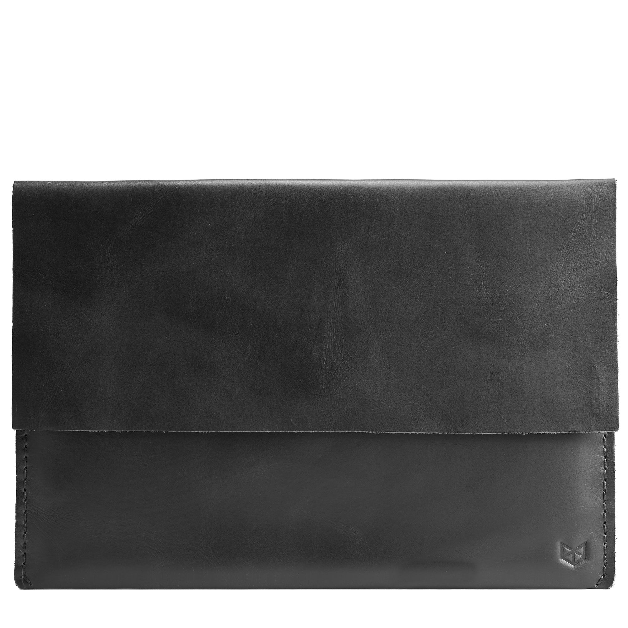 Cover. Black Leather Minial iPad Sleeve Case by Capra Leather