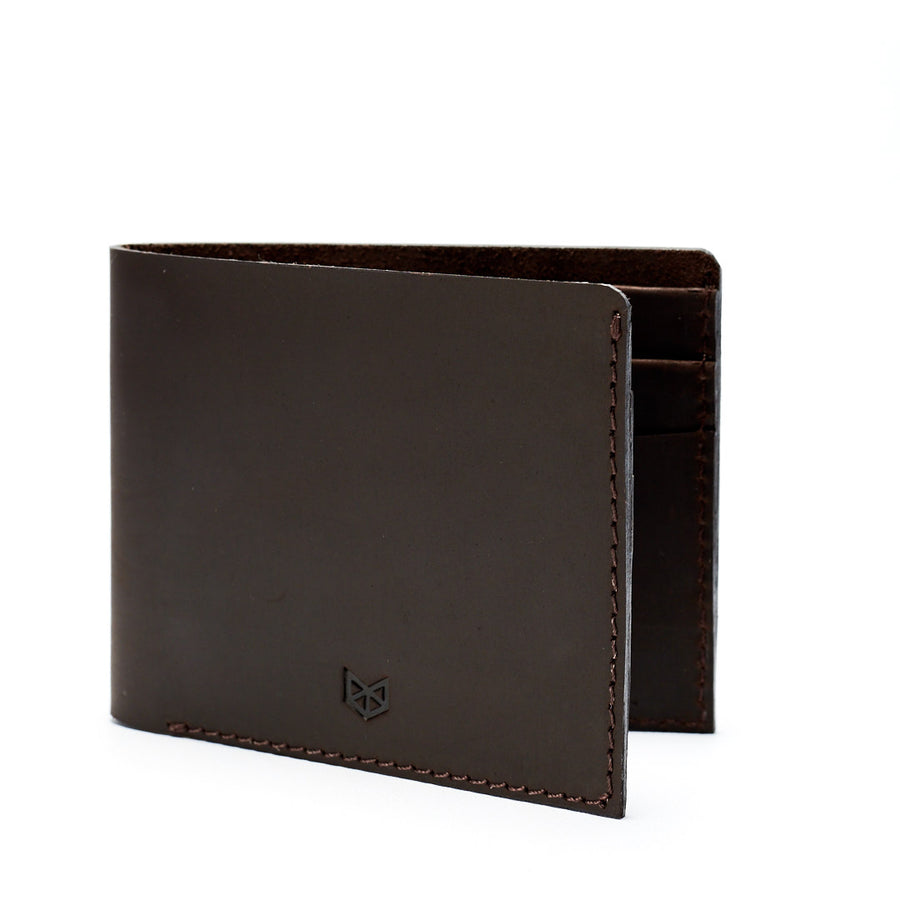 leather dark brown slim wallet gifts for men handmade accessories