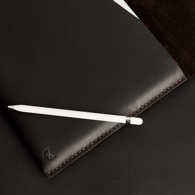 Style photo with marker pen. Brown handcrafted leather reMarkable tablet case.