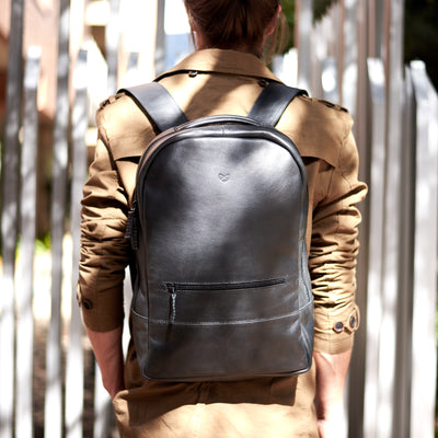 Urban style. Handmade leather back to school backpack. Mens gifts