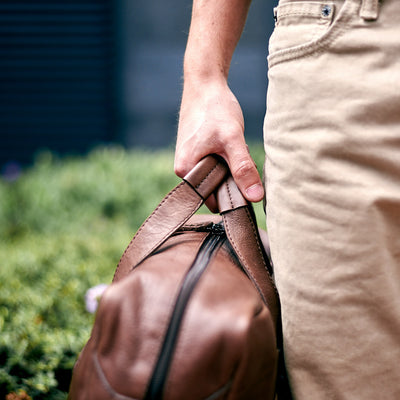 Urban style. Brown handmade leather messenger bag for men. Commuter bag, Travel laptop leather bag  for mens gifts