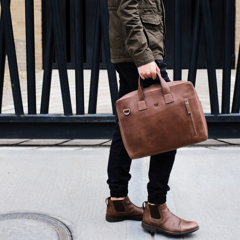 Roko Briefcase · Brown