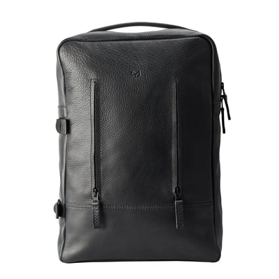 Handmade Tamarao Backpacks Rucksacks in Black by Capra Leather