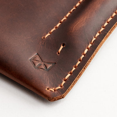 Hand stitched folio. Tan leather sleeve for Pixel Slate. Mens gifts