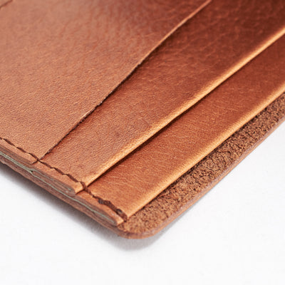 Soft interior. Slim profile. Leather light brown slim wallet gifts for men handmade accessories. minimalist full grain leather thin wallet