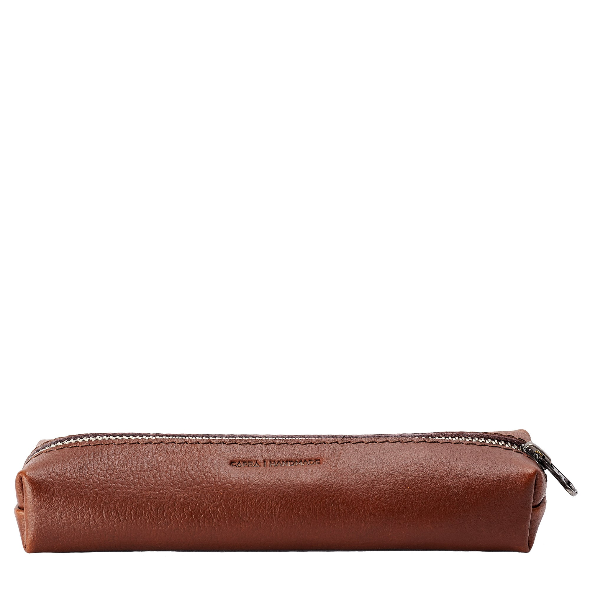 Handmade Brown Pencil Case by Capra Leather