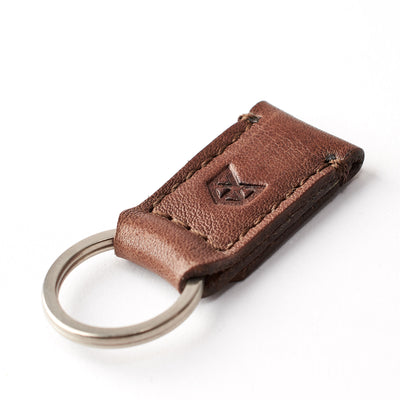 Brown leather magnetic keychain for mens gifts