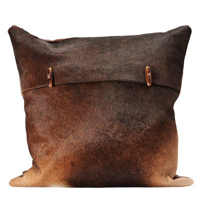 Handmade cowhide cushion with Button closure