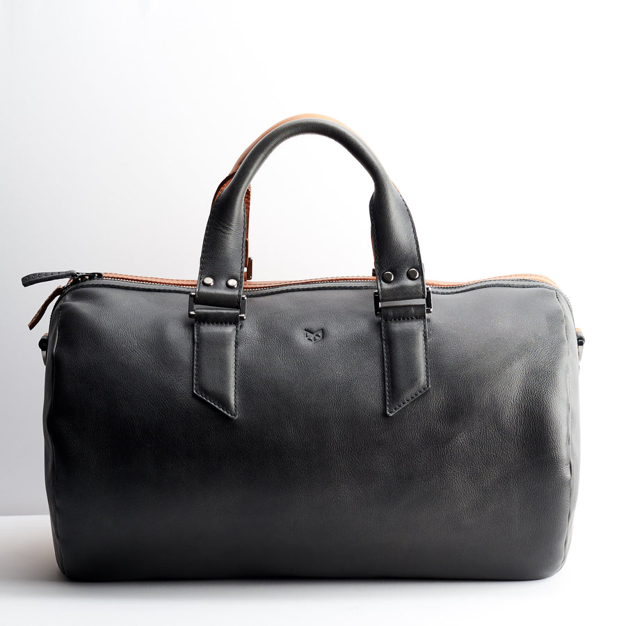 Dual Substantial Duffle Bag · Tan & Black