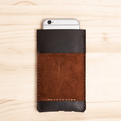 Handmade iPhone case  leather wallet for iPhone 8 Plus, iPhone x, iPhone 10, Name Engraving