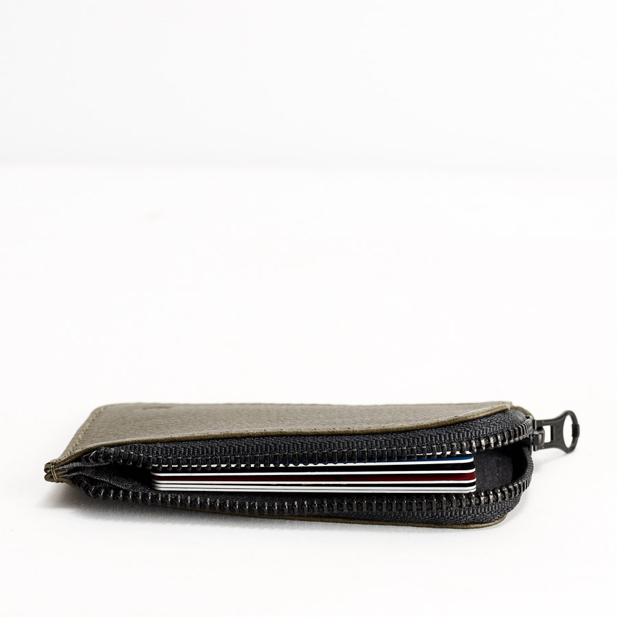 Zip Card Holder · Military Green