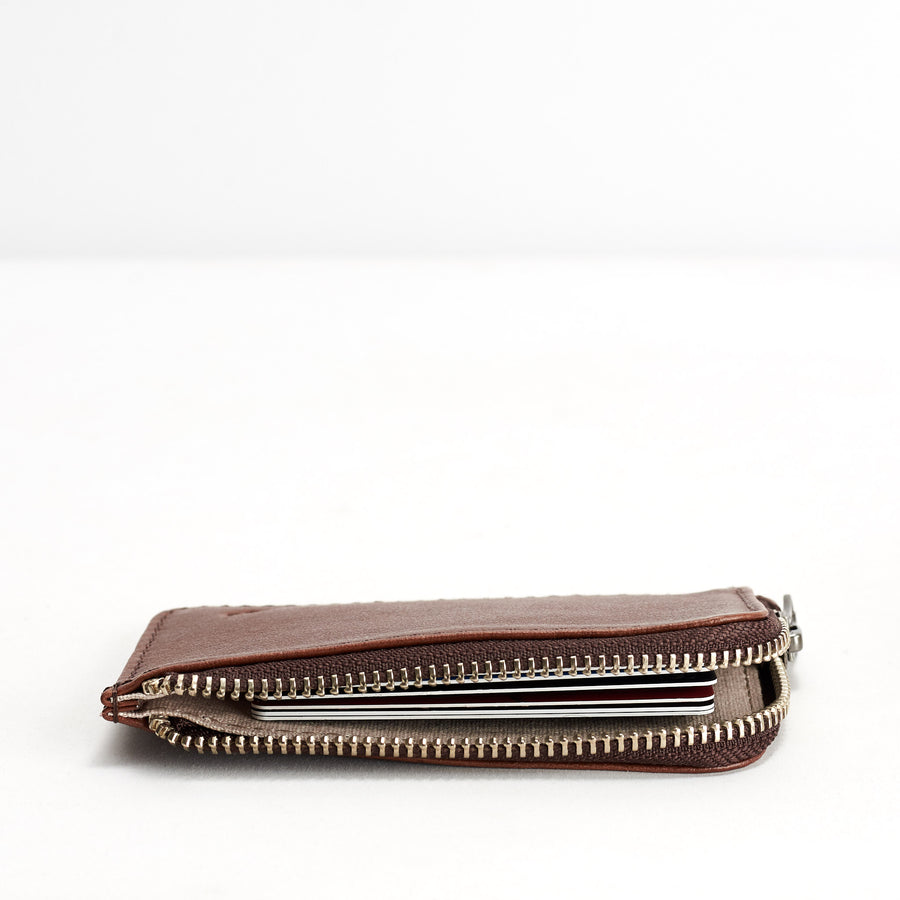 Zip Card Holder · Tobacco
