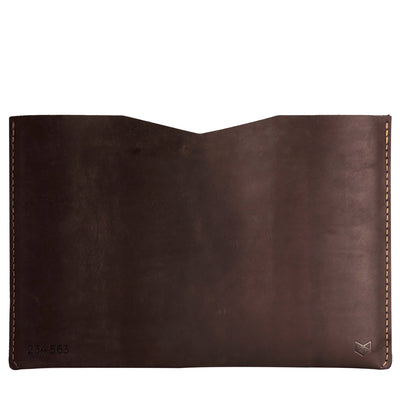 BASIC // MARRON: Leather Dell XPS laptop Sleeve Case by Capra Leather