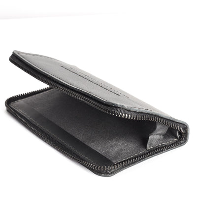 Linen interior. Black Leather case wallet stand for men. iPhone x, iPhone 10, iPhone 8 plus leather stand sleeve