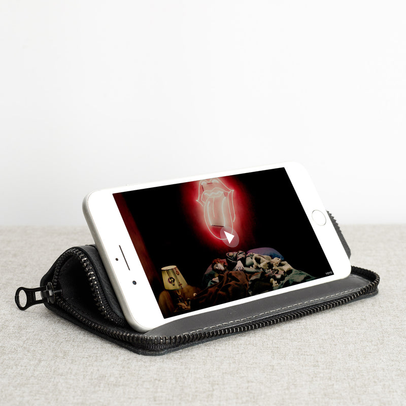 iPhone Case Wallet Stand · Black