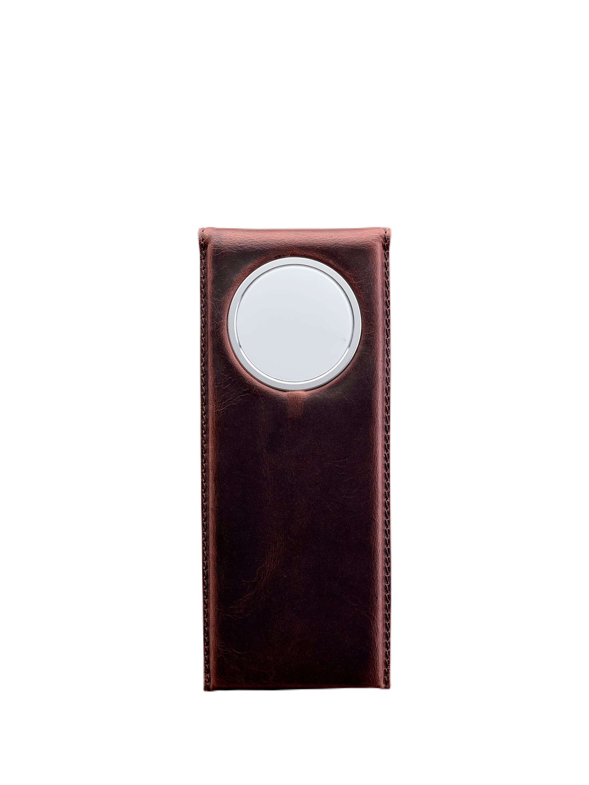 Cover. MagSafe iPhone Holder Stand Distressed Cognac by Capra Leather
