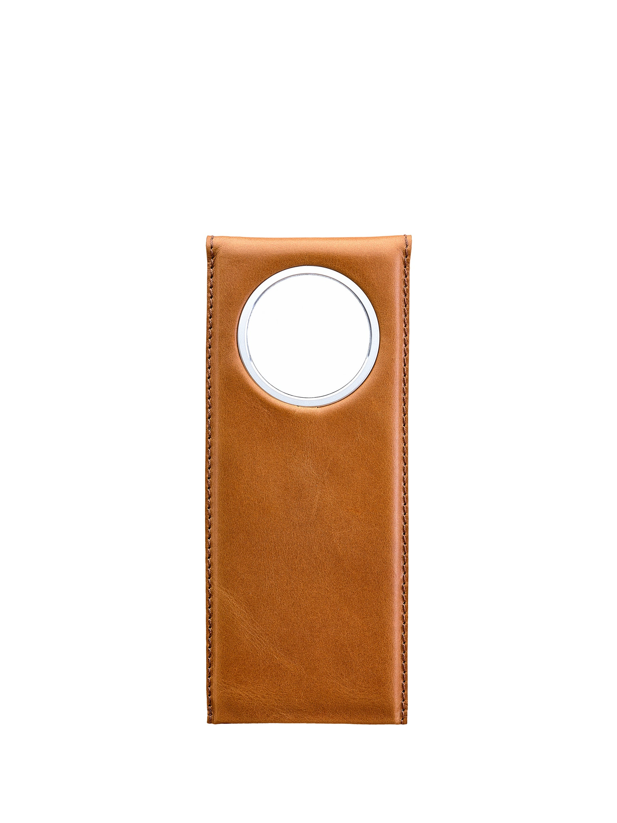 Cover. MagSafe iPhone Holder Stand Tan by Capra Leather