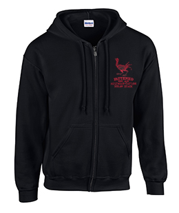 Full Zip Hoodie with Aultman Taylor Fattened Rooster