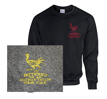 Crew Neck Sweatshirt with Aultman Taylor Fattened Rooster