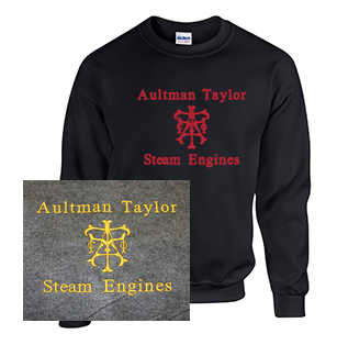Crew Neck Sweatshirt with Aultman Taylor Steam Engines
