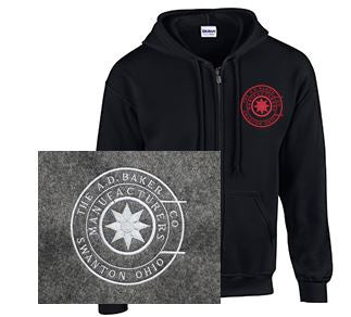 Full Zip Hoodie with Baker Logo