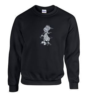 Crew Neck Sweatshirt with Advance Large Banner Boy