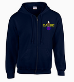 Full Zip Hoodie with Case Color Logo