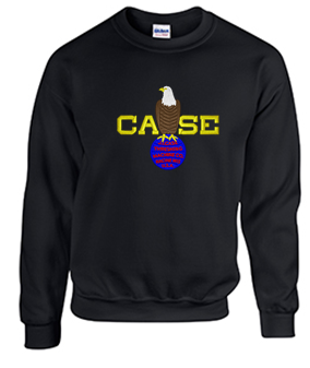 Crew Neck Sweatshirt with Case Color Large Logo