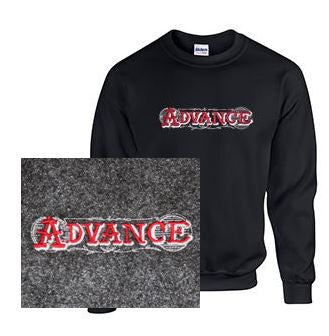 Crew Neck Sweatshirt with Advance Large Lettering