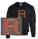 Crew Neck Sweatshirt with Russell Large Logo
