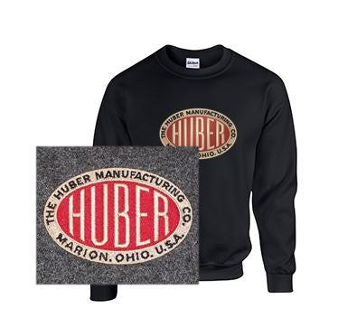 Crew Neck Sweatshirt with Huber Large Logo