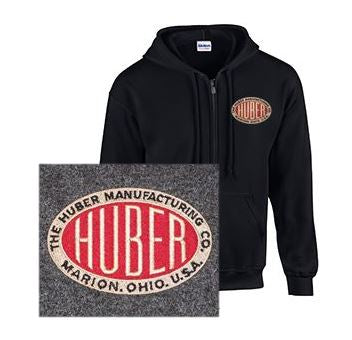 Full Zip Hoodie with Huber Logo