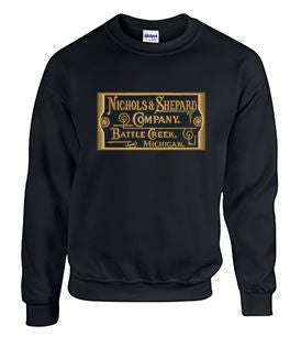 Crew Neck Sweatshirt with Nichols & Shepard Large Plate