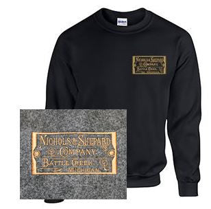 Crew Neck Sweatshirt with Nichols & Shepard Plate