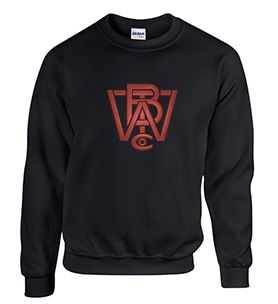 Crew Neck Sweatshirt with Wood Brothers Large Logo